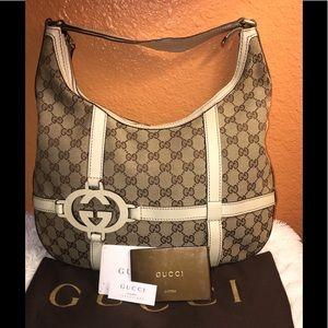 Gucci gg canvas hobo👜